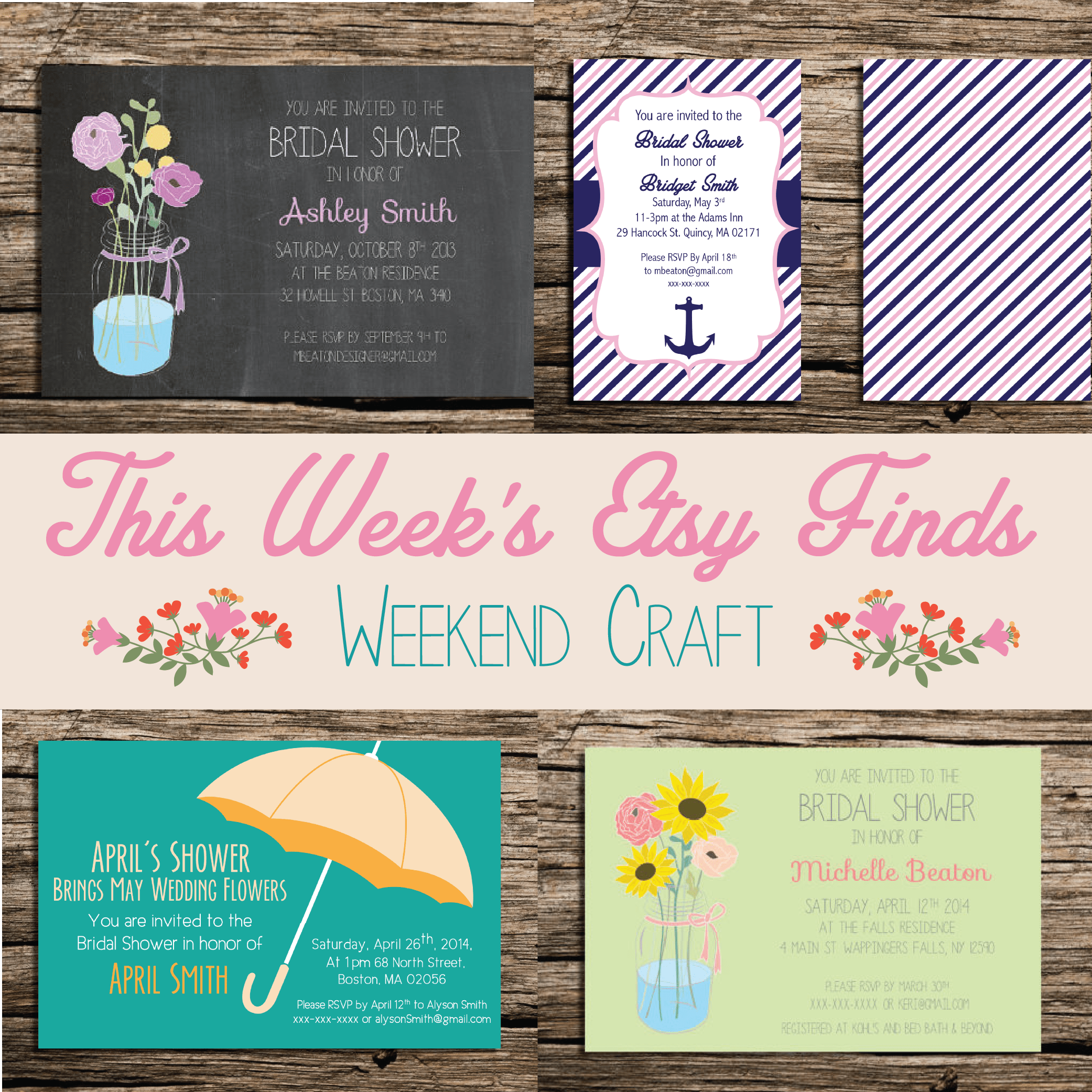 This Weeks Etsy Finds– Weekend Craft