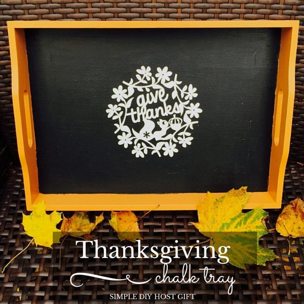 Thanksgiving Chalkboard Tray and Silhouette Challenge