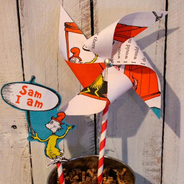 DIY Dr. Seuss Pinwheels