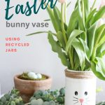 Painted Easter Bunny Vase