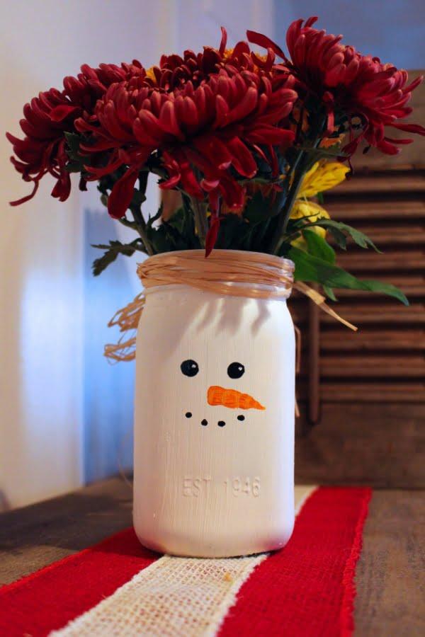 snowman vase