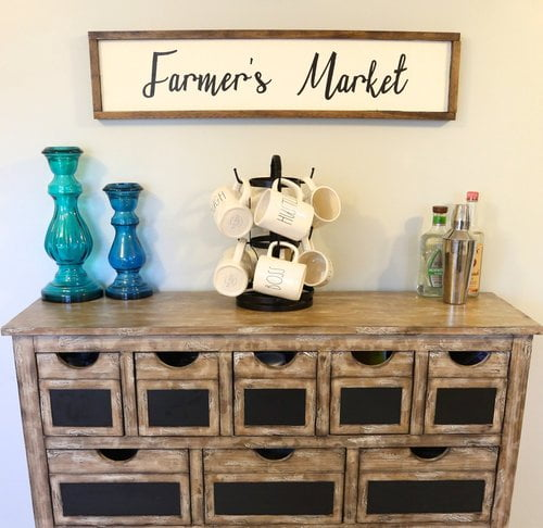 Farmhouse style wood sign