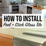 How to install peel and stick glass tile