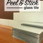 peel and stick glass tile