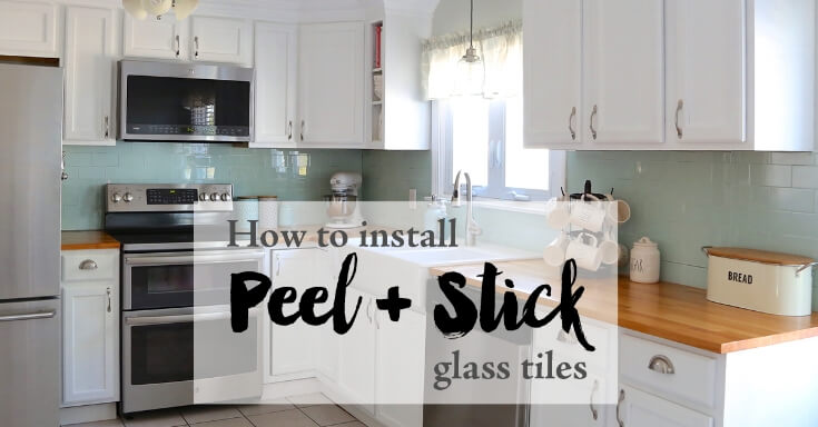 Installing Peel and Stick Glass Tiles - Weekend Craft