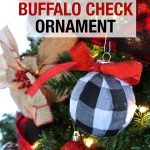 DIY Buffalo Check Ornaments