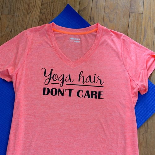 How to make a custom workout shirt with Cricut