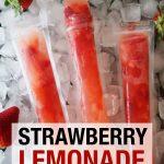 Strawberry Lemonade vodka freeze pop
