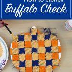 Buffalo Check Stencil