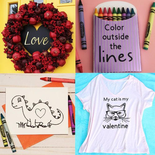 5 Valentines Day Crafts with your Cricut
