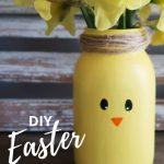 DIY Easter Chick Vase