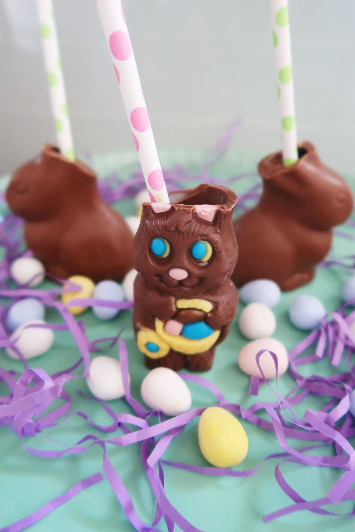 Chocolate Easter Bunny Shots