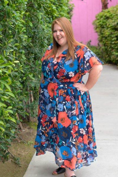 floral spring midi dress