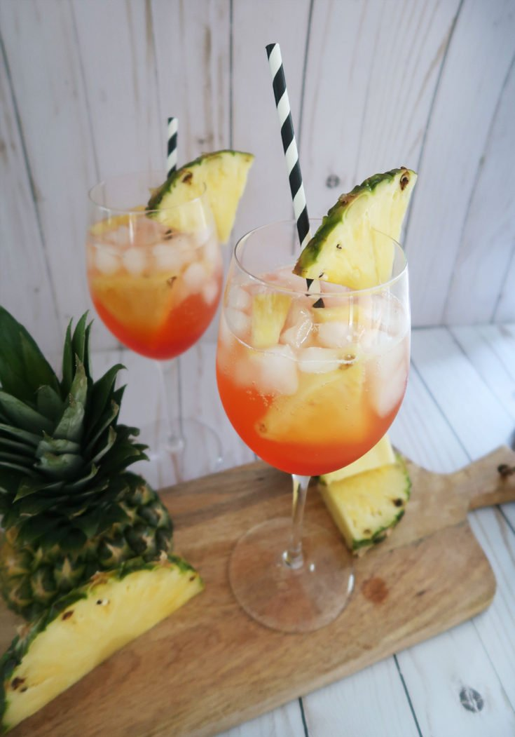 A perfect summer drink or brunch cocktail. A twist on the classic aperol spritz recipe with pineapple.