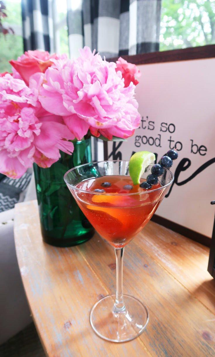 Blueberry Pomegranate Martini