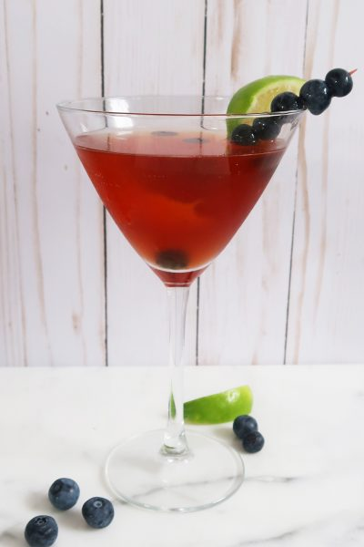 Blueberry Pomegranate Martini