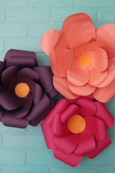 cricut large paper flowers
