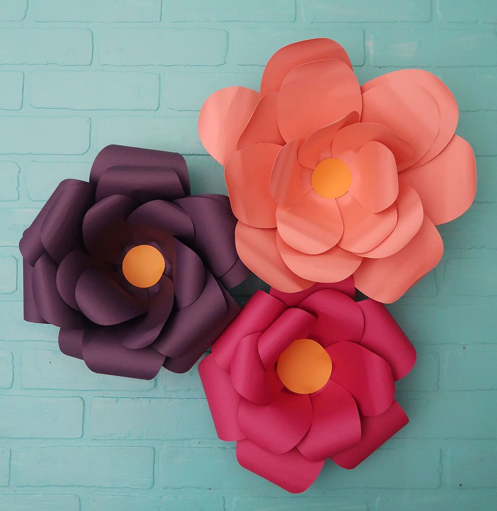 DIY paper flower Water Lily for wall backdrop decoration arts and ... | 1029x1000