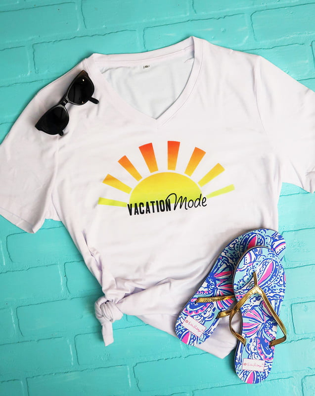 tshirt made with cricut infusible ink transfer