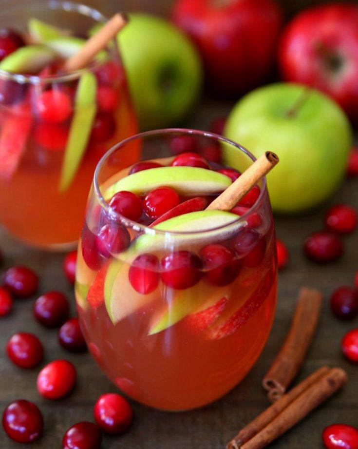 Cranberry Apple Rosé Sangria