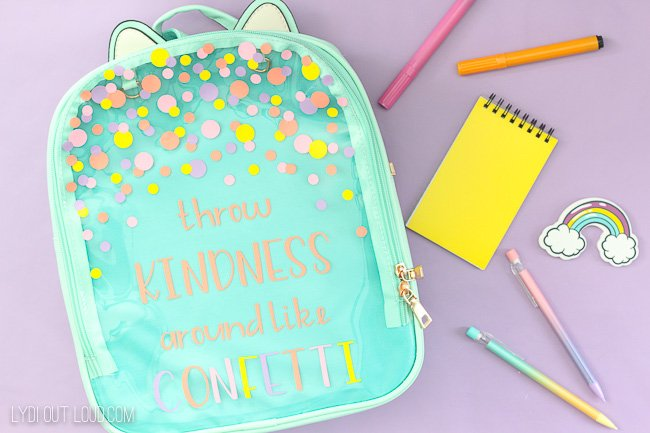 Customized Backpack for Back to School with Cricut