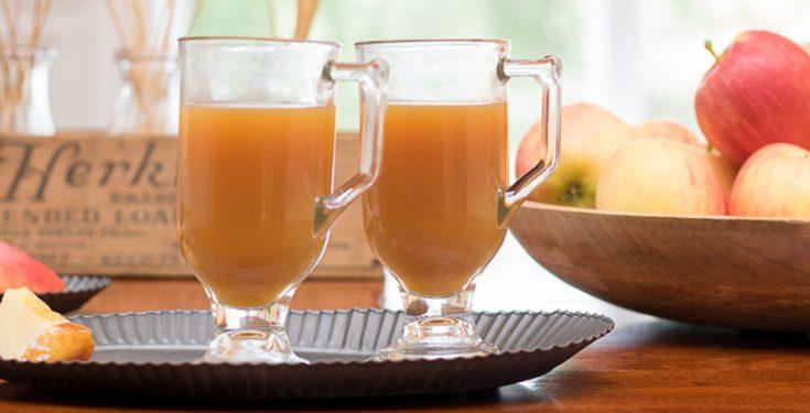 Spiked Warm Caramel Apple Cider • Nourish and Nestle