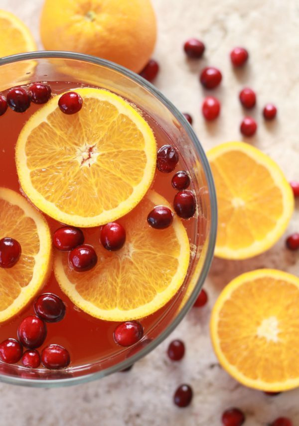 Orange Cranberry Champagne Punch