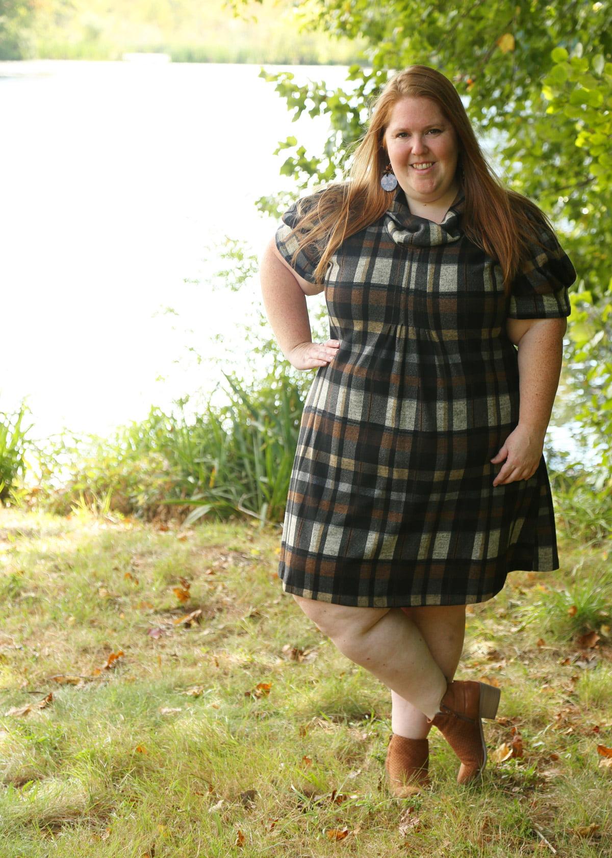 Plaid Plus Size Dress