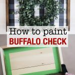 How to paint buffalo check