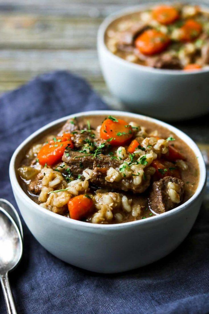 Instant Pot Beef & Barley Stew