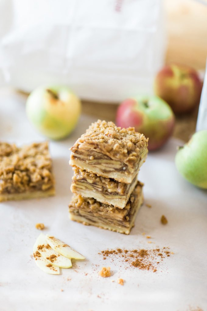 How to Make the Most Amazing Apple Crisp Shortbread Bars