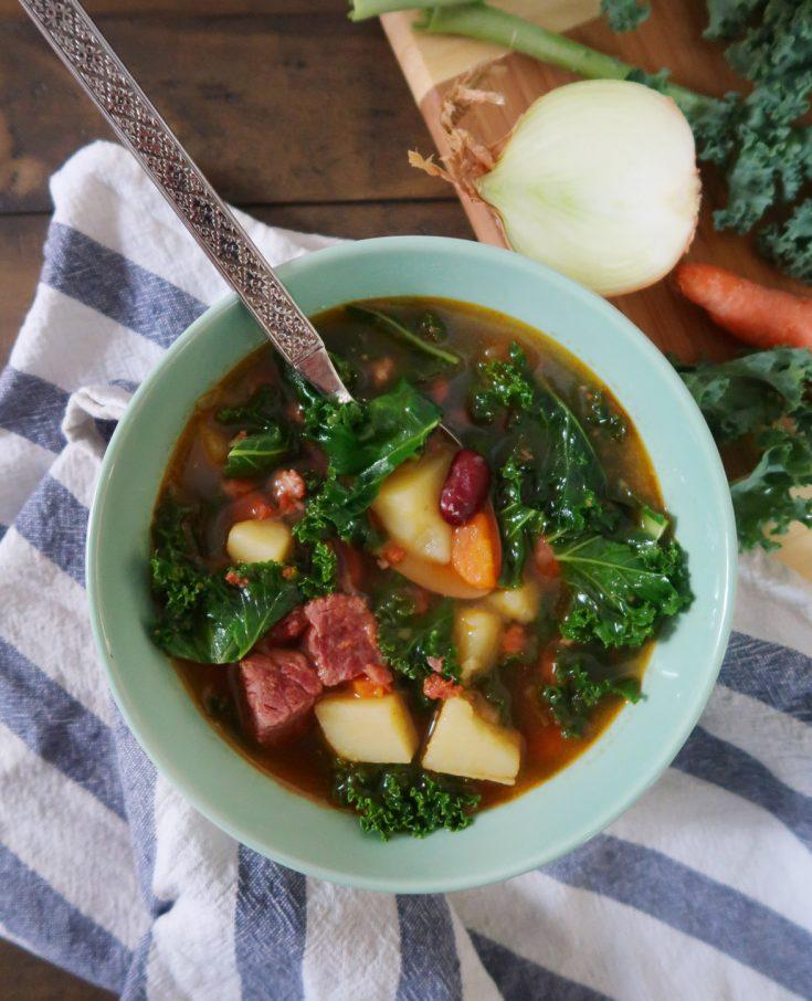 Instant Pot Portuguese Kale Soup
