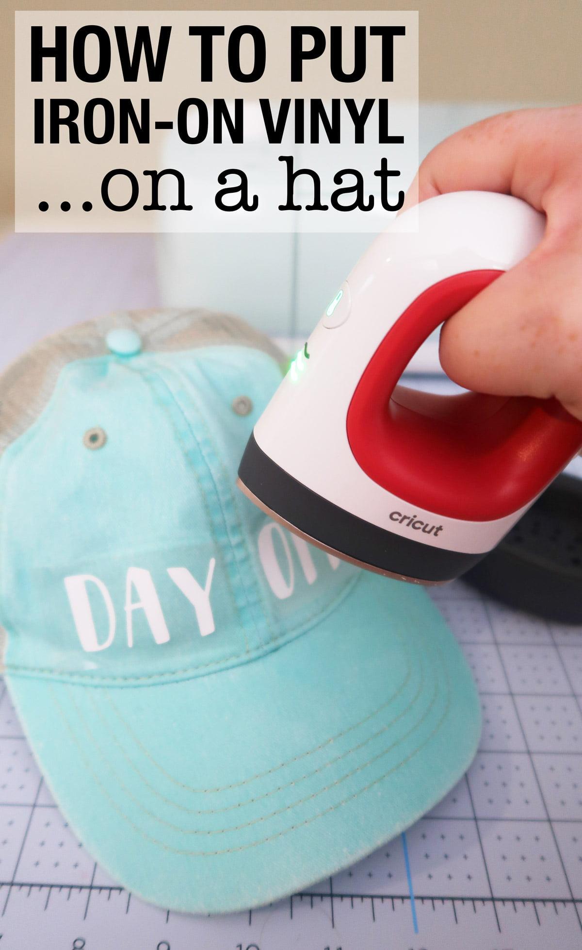 adding vinyl to hat