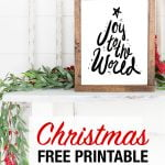 Joy to the world christmas printable