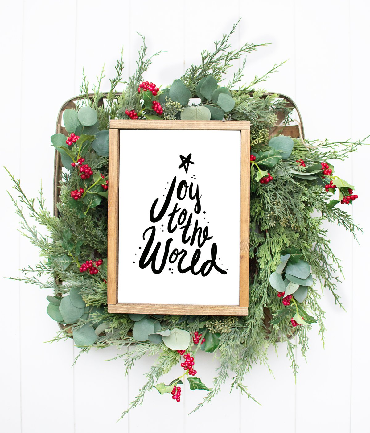 Joy to the world handlettered artwork