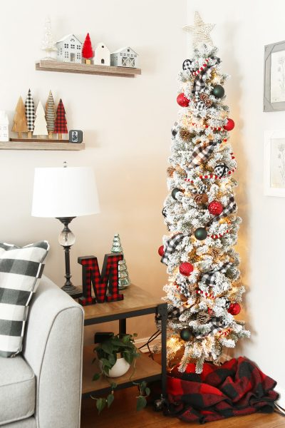 Buffalo Check Pencil Christmas Tree