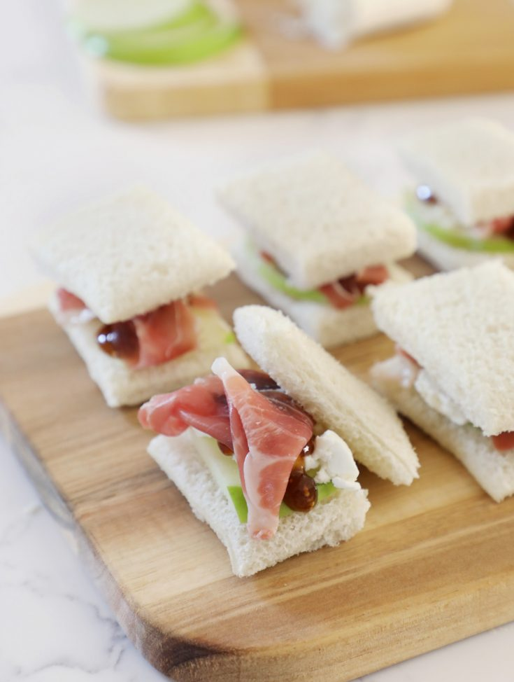 Fig, Apple and Prosciutto Tea Sandwiches