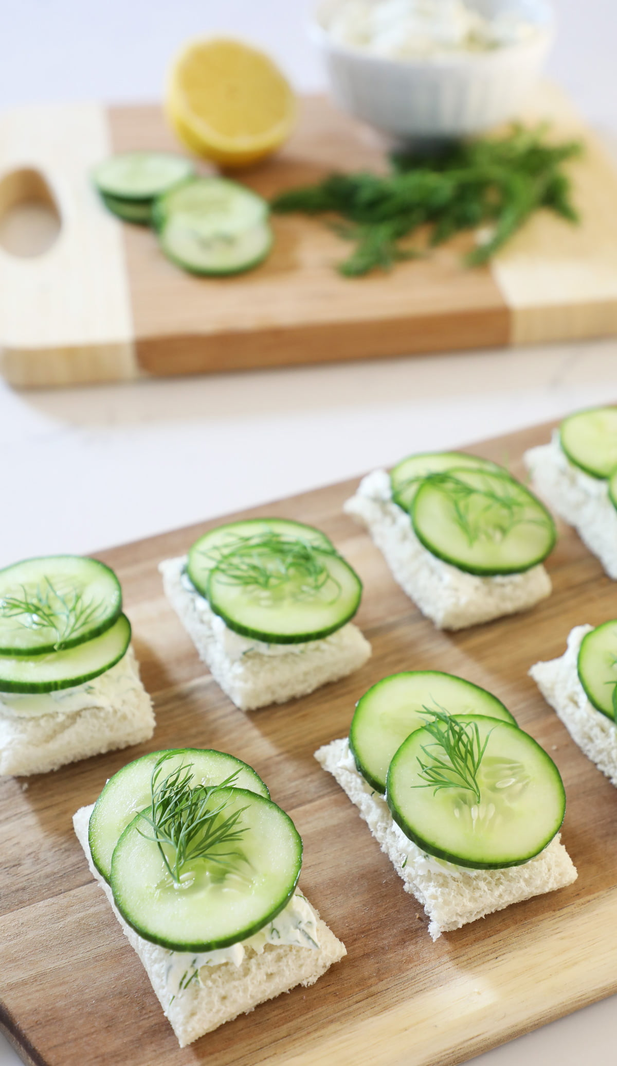 Lemon Dill and Cucumber Tea Sandwich