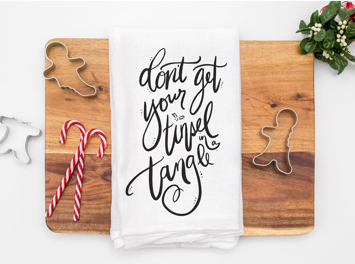 Don't Get Your Tinsel In A Tangle Free SVG and Printable