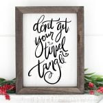 Don't get your Tinsel in a Tangle printable