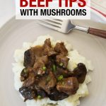 Instant Pot Beef tips with mushrooms