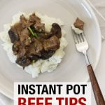 Instant Pot Beef tips with mushroom