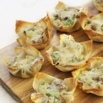Steak and cheese Wontons