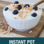 Instant Pot coconut yogurt
