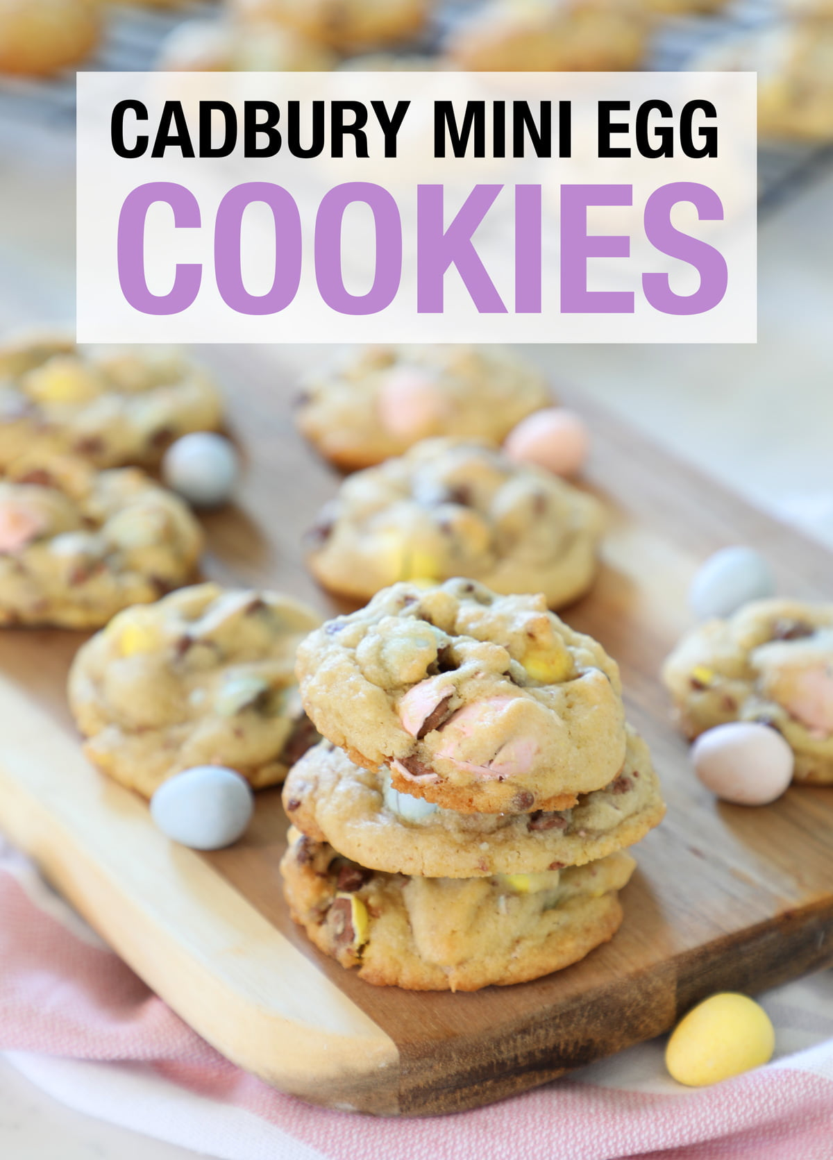 Easter cookies with mini eggs