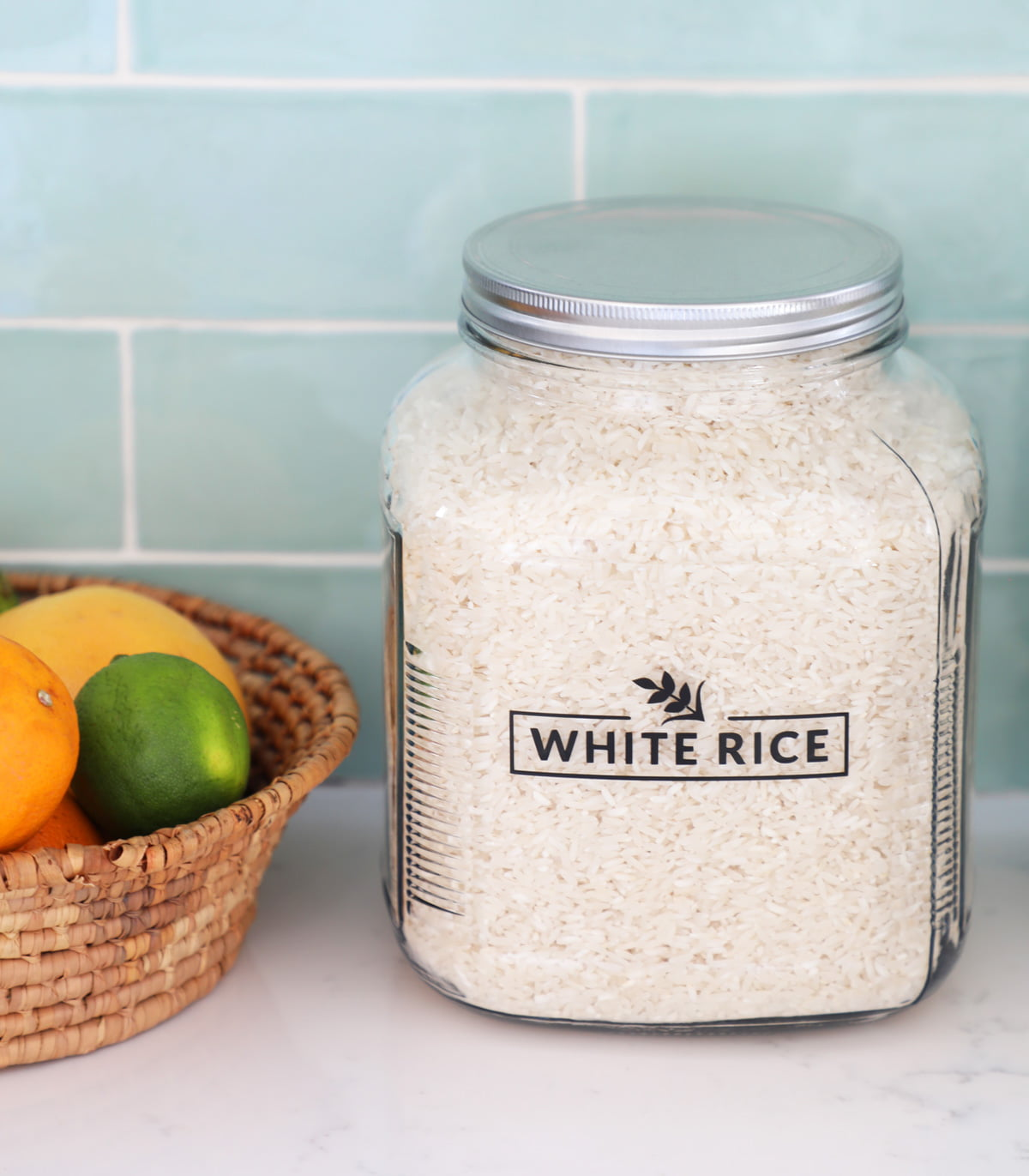 White Rice Canister