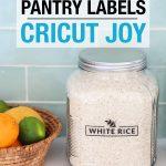 pantry labels cricut joy