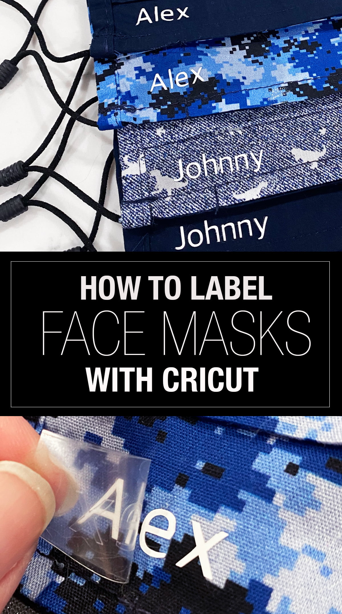 How to label Face Mask with Cricut