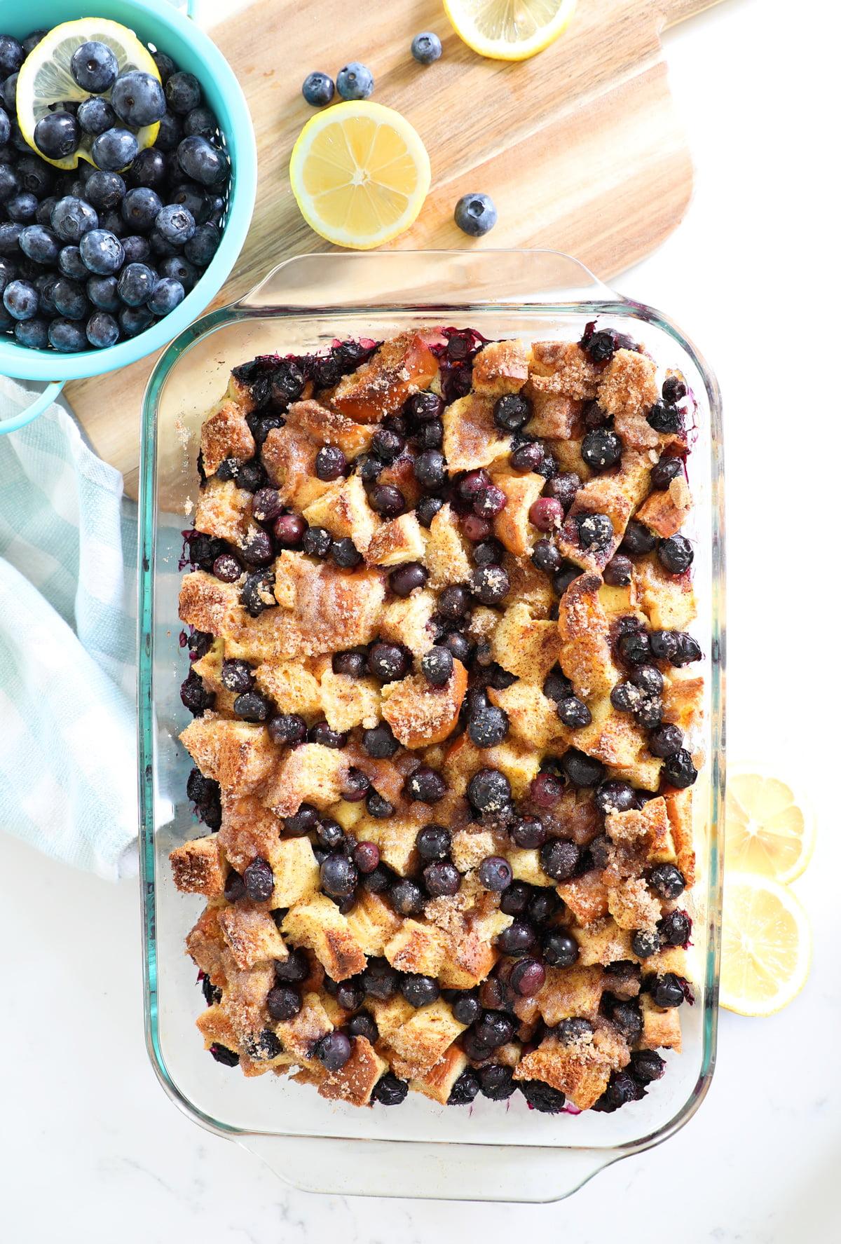 Overnight Lemon Blueberry French Toast