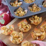 apple pie cream cheese wontons